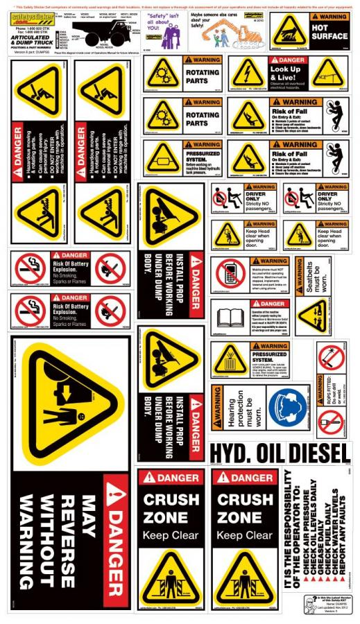 Custom Decals For Trucks >> Dump Truck (rigid & articulated) | Safety Stickers | Safety Decals