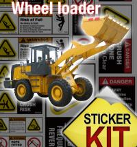 wheel loader safety stickers