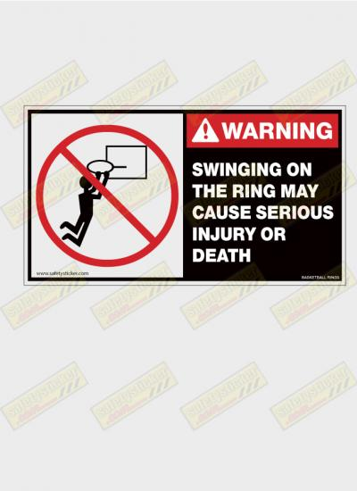 basketball ring warning