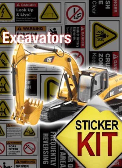 excavator stickers
