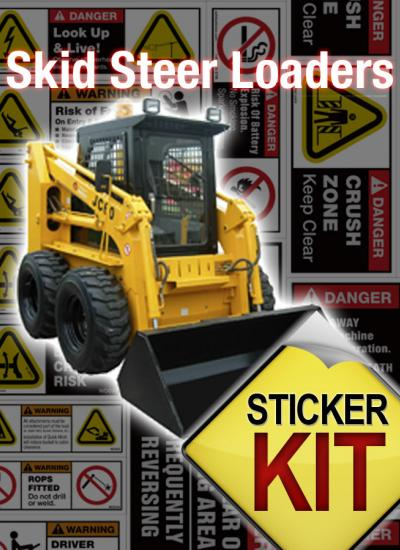 skid steer safety stickers