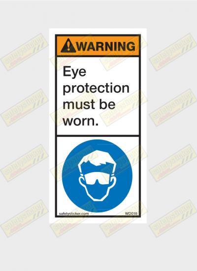 eye protection sticker