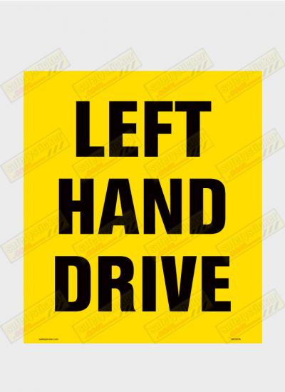 Left Hand Drive decal