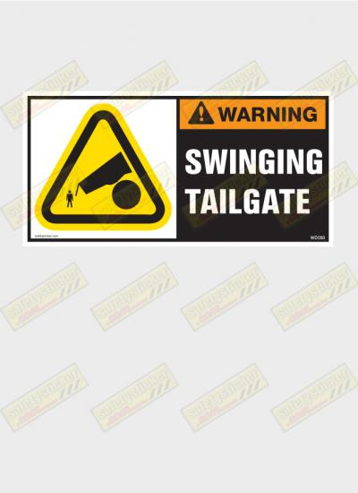 Tailgate warning sticker