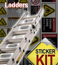 ladder safety sticker kit