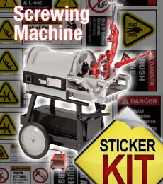 screwing machine safety stickers