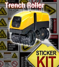 Sticker Kit for a Trench Roller