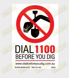 Dial before you dig sticker