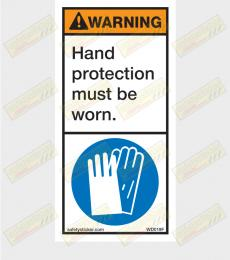 PPE warning sticker