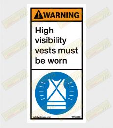 H-Viz warning sticker