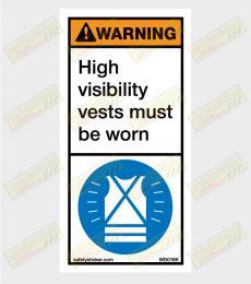 H-Viz warning sticker