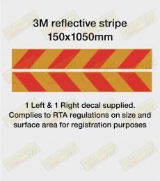 Reflective red & yellow stripe