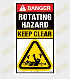 Auger warning sticker