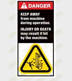 Keep Clear of machine sticker