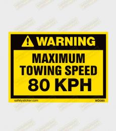 Towing Speed warning sticker