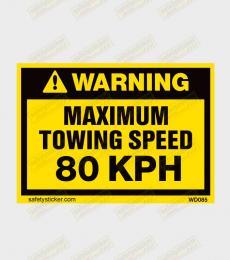 Towing Speed warning sticker
