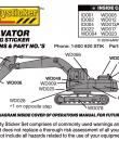 excavator warning stickers placement