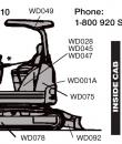 mini excavator sticker positions
