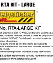 RTA sticker specifications