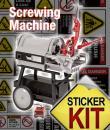 screwing machine safety stickers