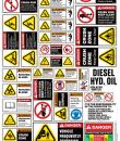 wheel loader safety stickers