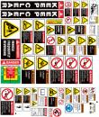 backhoe safety sticker kit