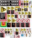 backhoe safety sticker kit