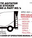 Concrete Agitator safety sticker positions