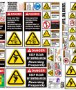 excavator safety sticker sheet