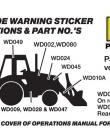 backhoe safety sticker