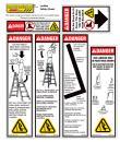 ladder safety checklist stickers