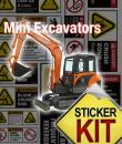 mini excavator safety stickers