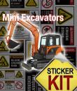 mini excavator safety stickers