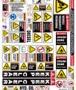 skid steer safety sticker kit